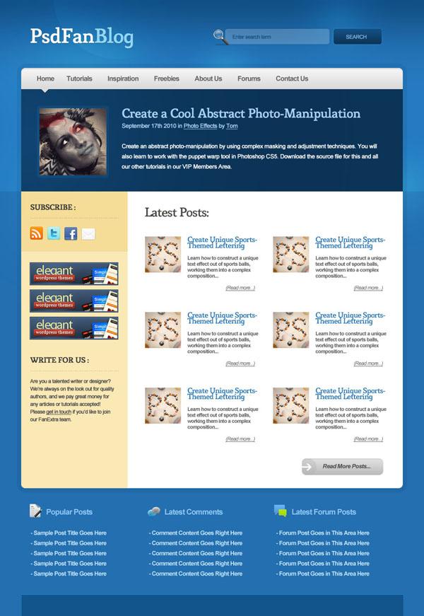 blueblog25a How to Design a Modern Blog Layout