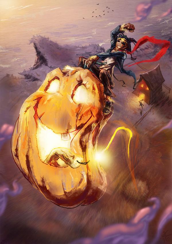 Scarecrows joyride Members Area Tutorial: Digital Painting Lesson: Scarecrow's Joyride