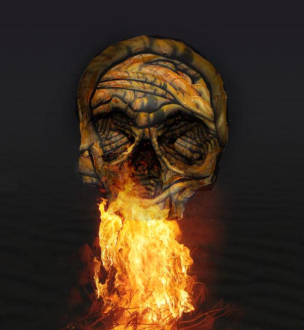 skullbranch13 Create a Halloween Inspired Flaming Wooden Skull