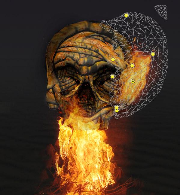 skullbranch14b Create a Halloween Inspired Flaming Wooden Skull