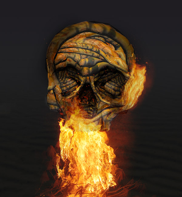 skullbranch14c Create a Halloween Inspired Flaming Wooden Skull