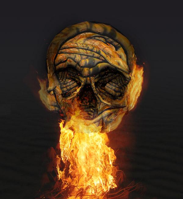 skullbranch15 Create a Halloween Inspired Flaming Wooden Skull