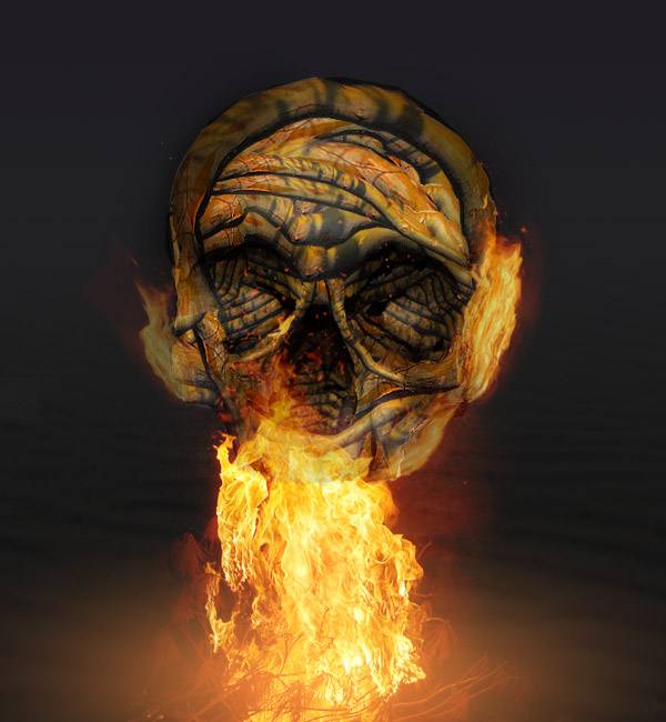 skullbranch16a Create a Halloween Inspired Flaming Wooden Skull