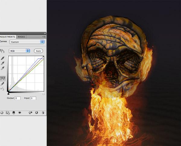 skullbranch17 Create a Halloween Inspired Flaming Wooden Skull