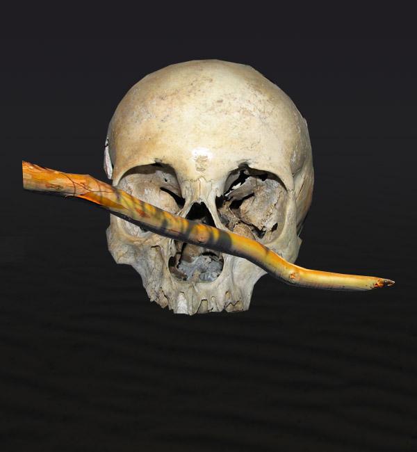 skullbranch5 Create a Halloween Inspired Flaming Wooden Skull