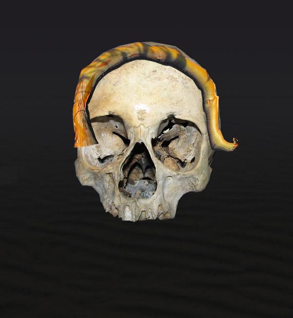 skullbranch6b Create a Halloween Inspired Flaming Wooden Skull