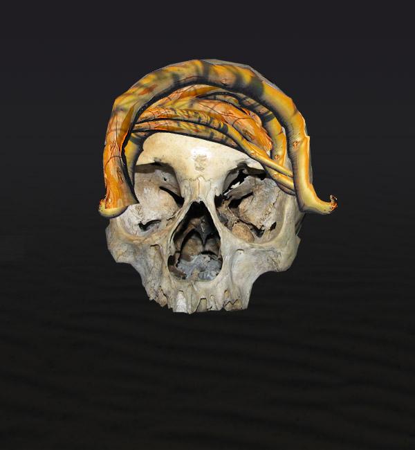 skullbranch7a Create a Halloween Inspired Flaming Wooden Skull