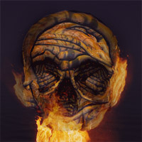 Create a Halloween Inspired Flaming Wooden Skull