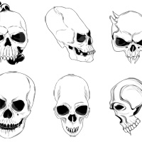 Premium Vector/Brush Pack: Skulls