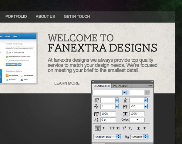 smokedesign23 Design a Textured Portfolio Website