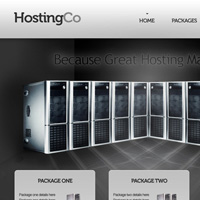 Design a Super Sleek Hosting Layout