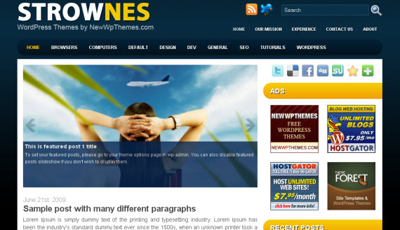 32 Free Stunning Wordpress Themes for an Awesome Blog | PSDFan