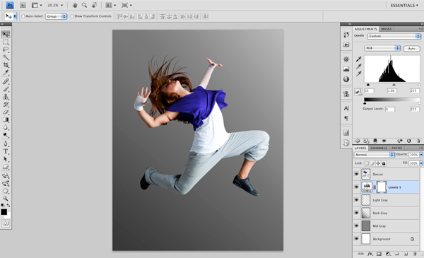 Dance 03 c Create A Futuristic Photo Illustration With Photoshop