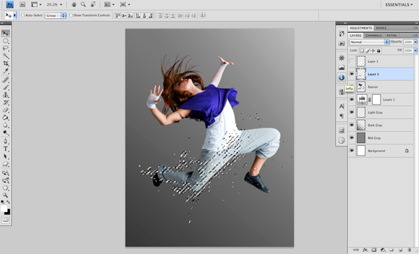 Dance 04 b Create A Futuristic Photo Illustration With Photoshop