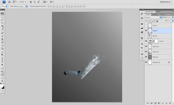 Dance 04 c Create A Futuristic Photo Illustration With Photoshop