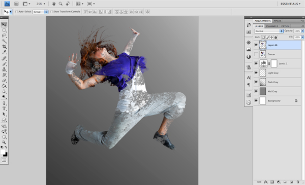 Dance 04 e Create A Futuristic Photo Illustration With Photoshop