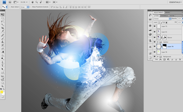 Dance 08 c Create A Futuristic Photo Illustration With Photoshop