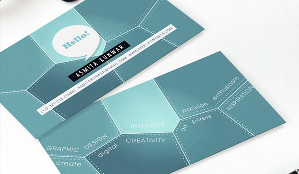 31 elegant and modern business card examples psdfan asmita kunwar business card reheart Gallery
