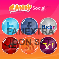Premium Icon Pack: Candy Social