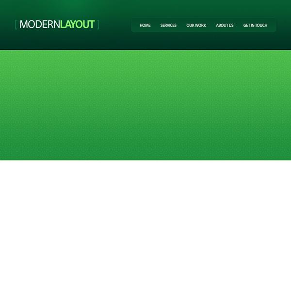 greenweblayout10b Design a Quick and Clean Portfolio Website