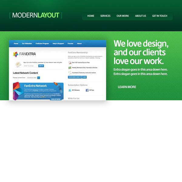 greenweblayout13b Design a Quick and Clean Portfolio Website