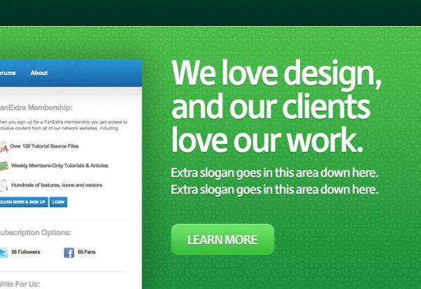greenweblayout14b Design a Quick and Clean Portfolio Website