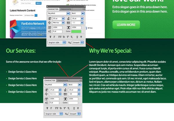 greenweblayout17 Design a Quick and Clean Portfolio Website