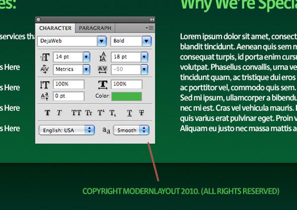 greenweblayout20a Design a Quick and Clean Portfolio Website