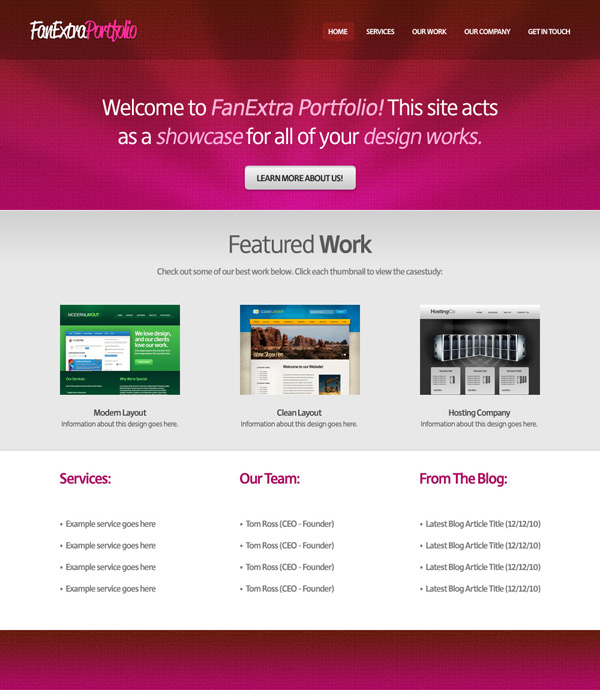 textureportfolio21 Design a Cool Textured Portfolio Website