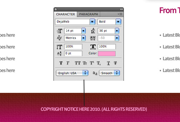 textureportfolio22a Design a Cool Textured Portfolio Website