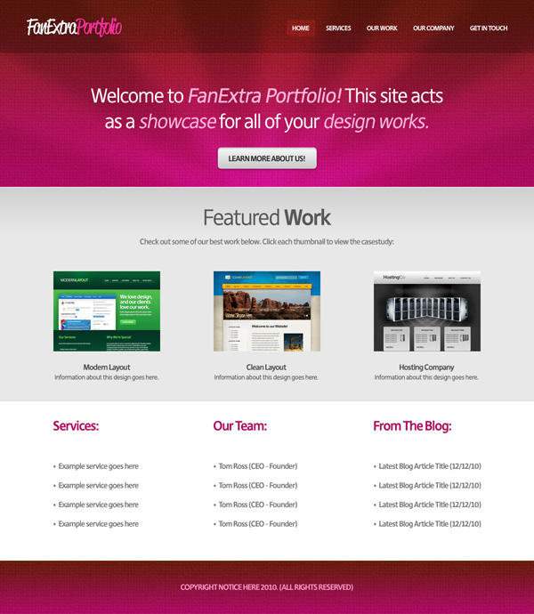 textureportfolio22b Design a Cool Textured Portfolio Website