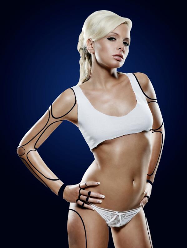 Cyborg 19 c Tutorial Photoshop Criar uma mulher Robô photoshop