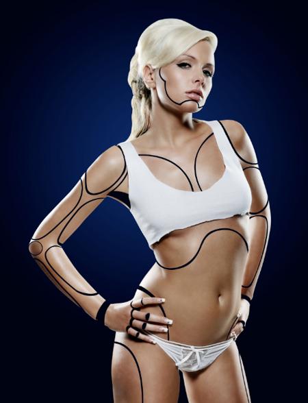 Cyborg 24 Tutorial Photoshop Criar uma mulher Robô photoshop