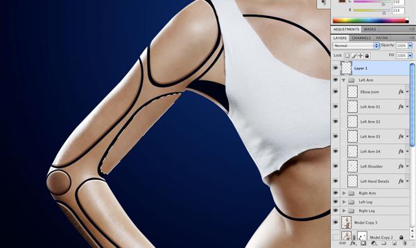 Cyborg 27 a Tutorial Photoshop Criar uma mulher Robô photoshop
