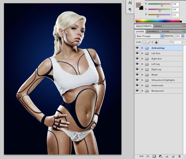 Cyborg 31 Tutorial Photoshop Criar uma mulher Robô photoshop
