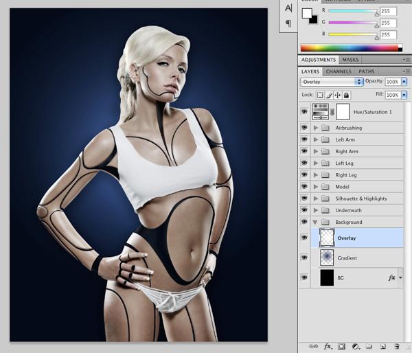 Cyborg 35 Tutorial Photoshop Criar uma mulher Robô photoshop