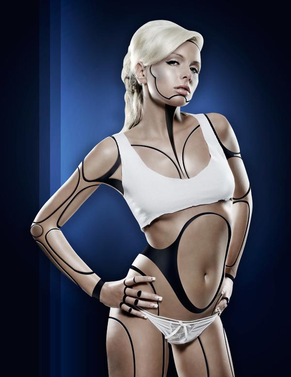 Cyborg 40 Tutorial Photoshop Criar uma mulher Robô photoshop