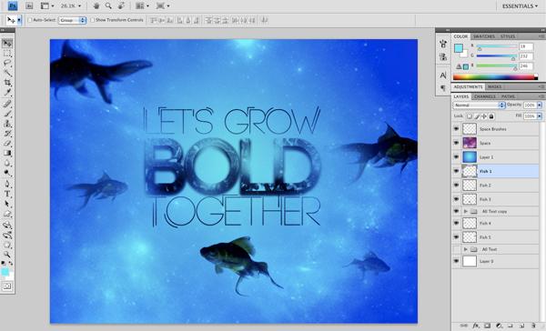 Underwater Type 14 d Create An Underwater Typography Scene