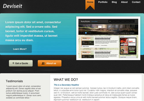 freetemplates1 34 Free & Beautiful xHTML/CSS Templates