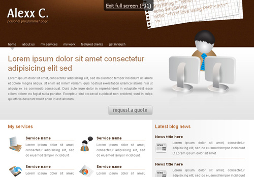 freetemplates11 34 Free & Beautiful xHTML/CSS Templates