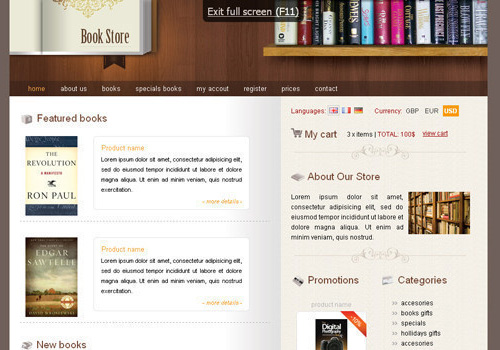 freetemplates19 34 Free & Beautiful xHTML/CSS Templates