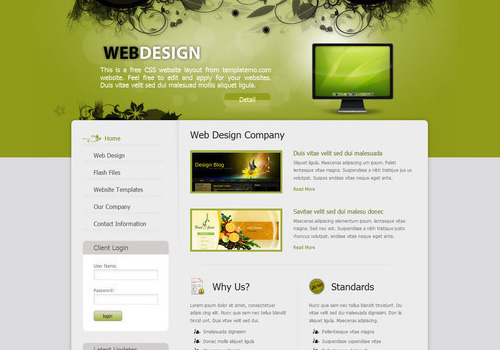 freetemplates23 34 Free & Beautiful xHTML/CSS Templates