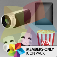 Premium Icon Pack: Movies Icon Pack