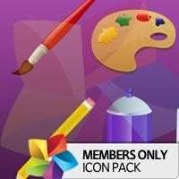 Premium Icon Pack: Artistic