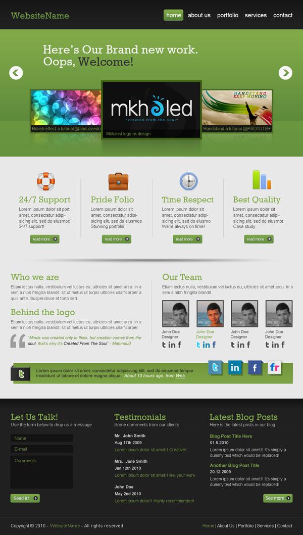 48 in depth website design photoshop tutorials psdfan for Website layout creator