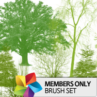 Premium Brush Set: Trees