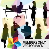 Premium Vector Pack: Business Silhouettes