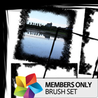 Premium Brush Set: Grunge Frames