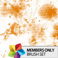 Premium Brush Set: Grunge Splotches