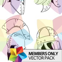 Premium Vector Pack: Helmets
